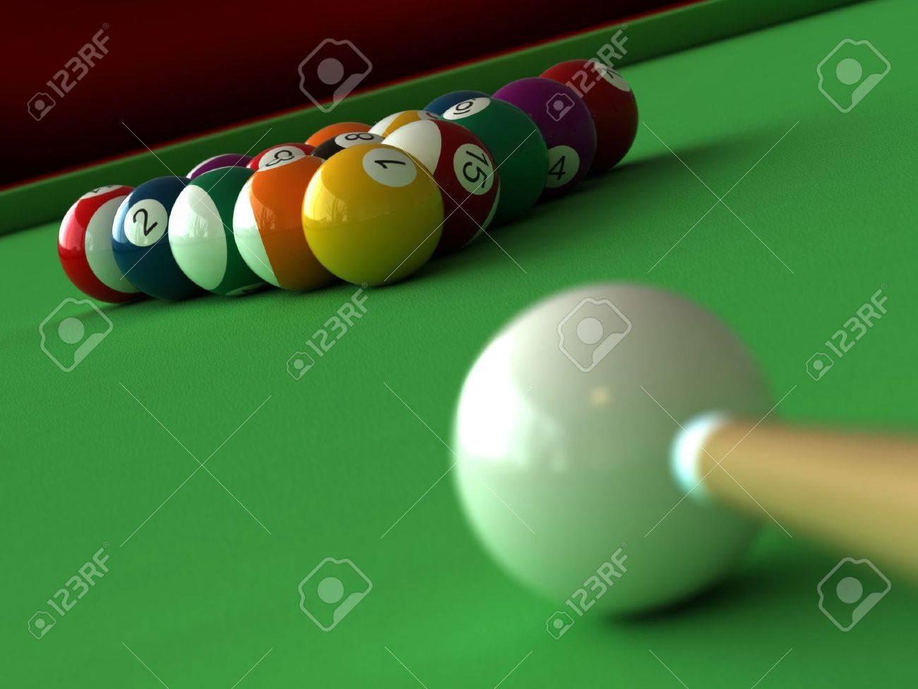 rendu 3D des boules de billard et de table Banque d'images - 7016590