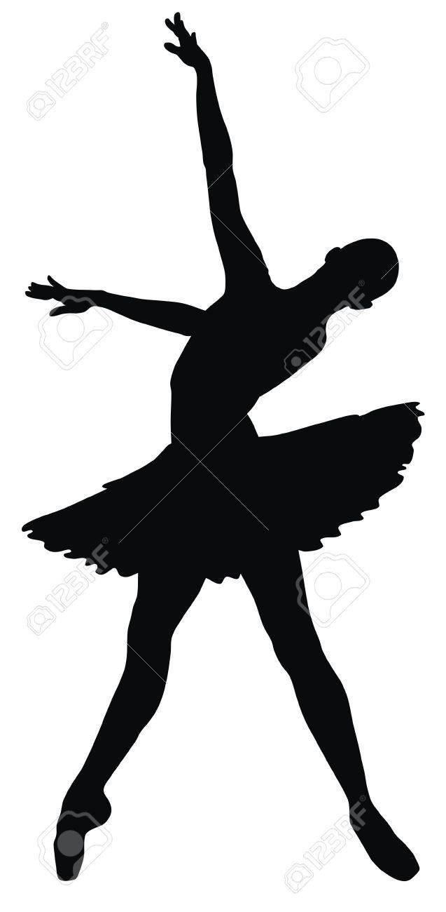 Abstract vector illustration of dancing ballerina Stock Vector - 7728770