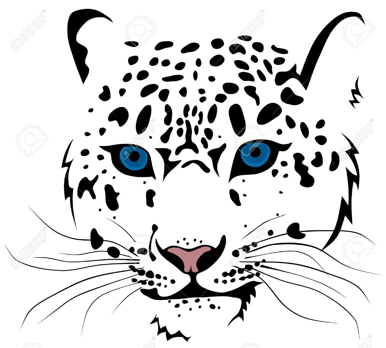 abstract vector illustration of snow leopard bars royalty free rh 123rf com Snow Leopard Cartoon snow leopard images clip art