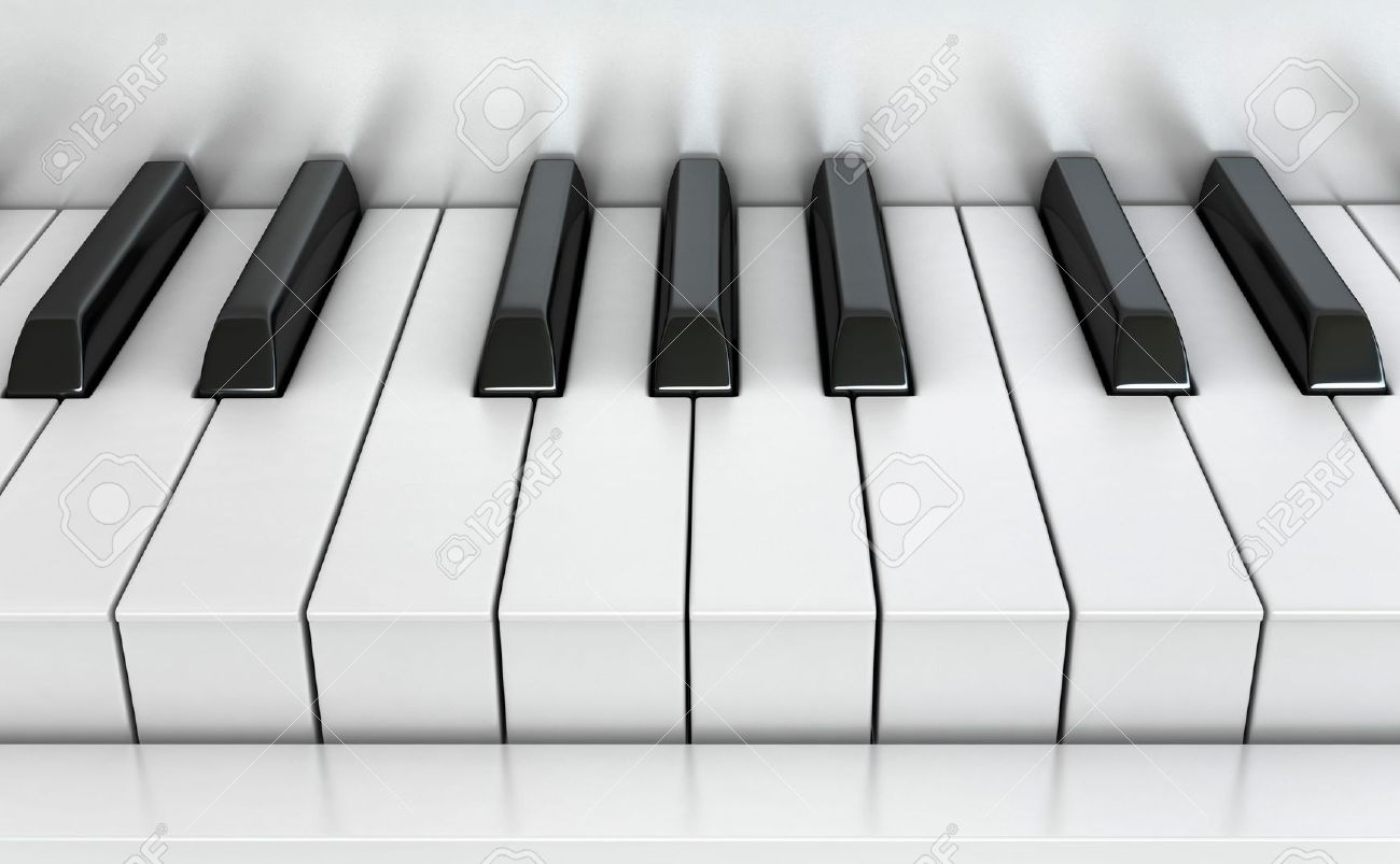 3d render of piano keys stock photo picture and royalty free image