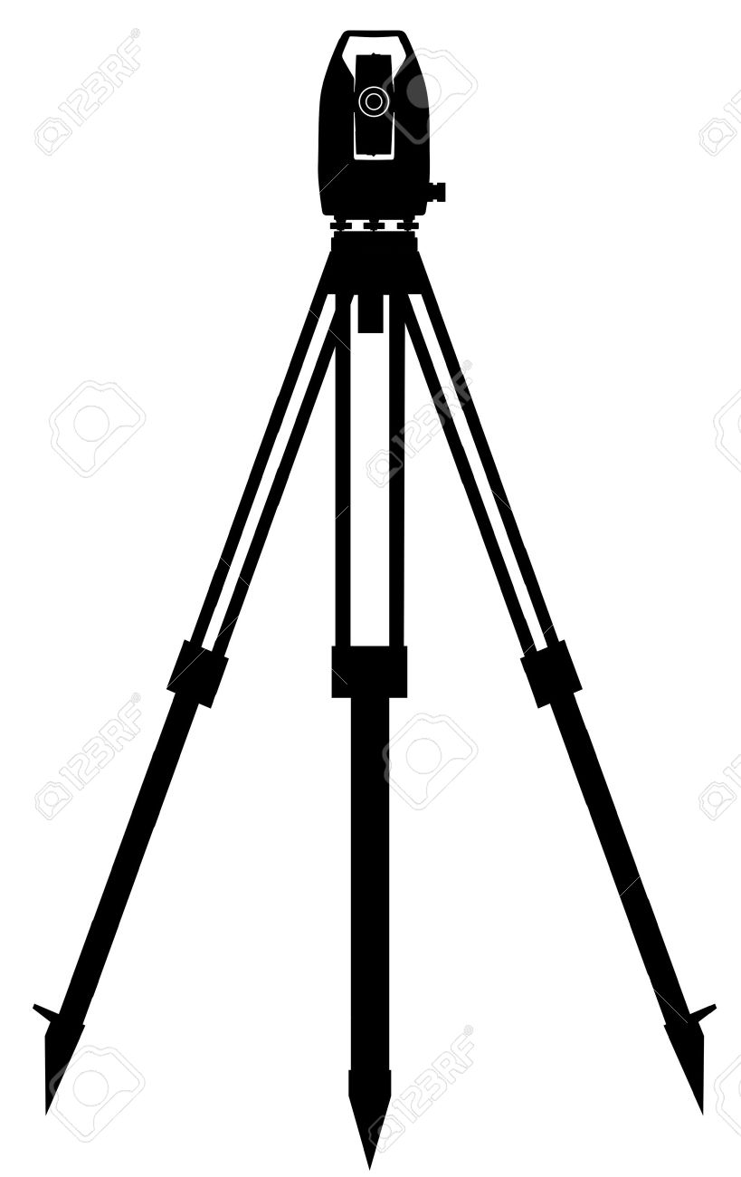 Digital geodetic instrument for precise angles and distance measurement Stock Vector - 9861022