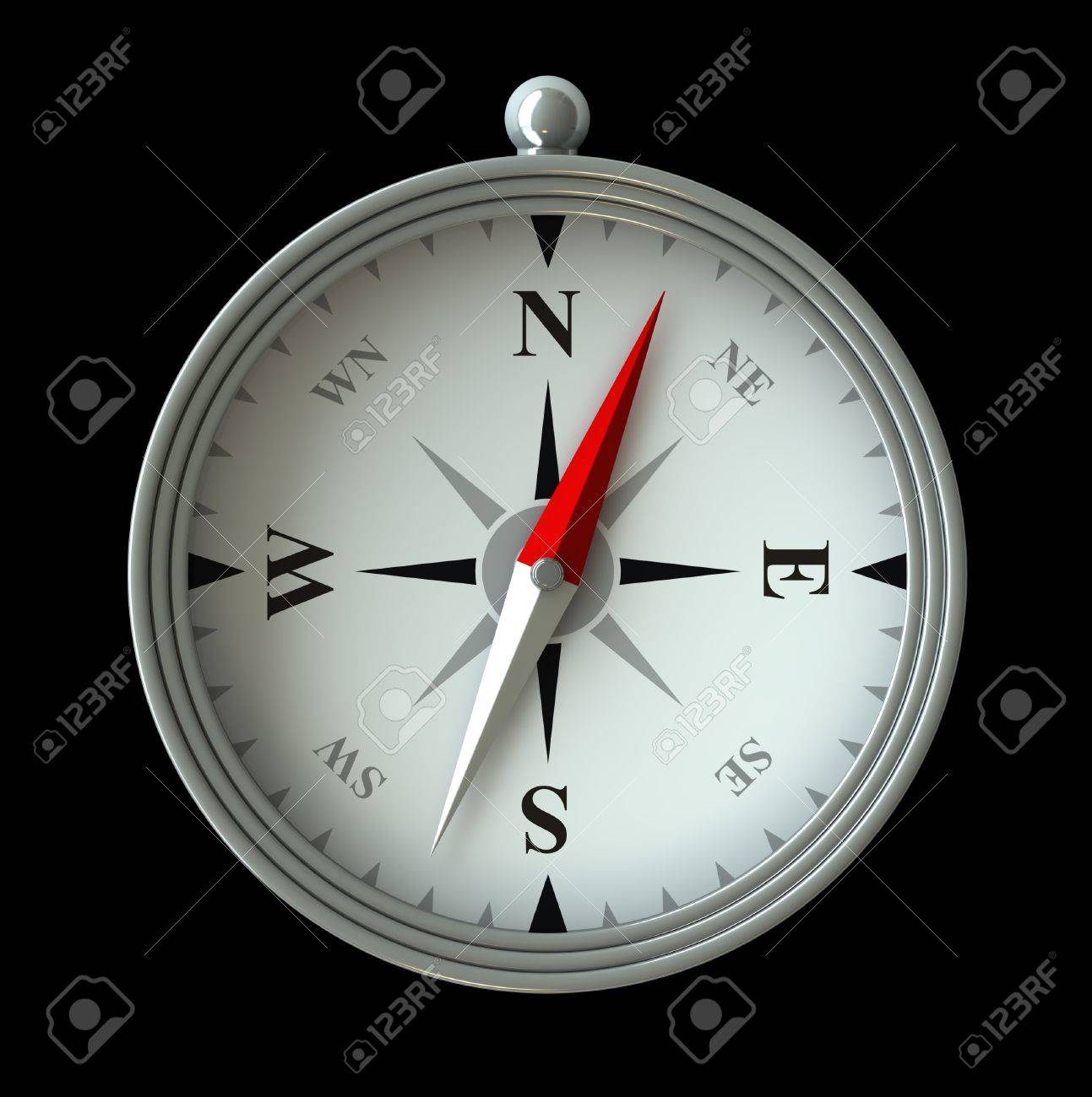 3d render of compass isolated over black background Stock Photo - 12194196