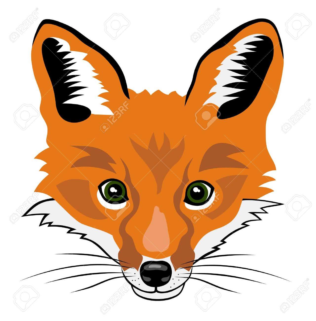 Illustration of fox he...