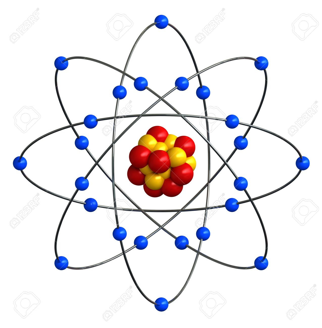 3d Render Of Abstract Atomic Structure Stock Photo, Picture And ...