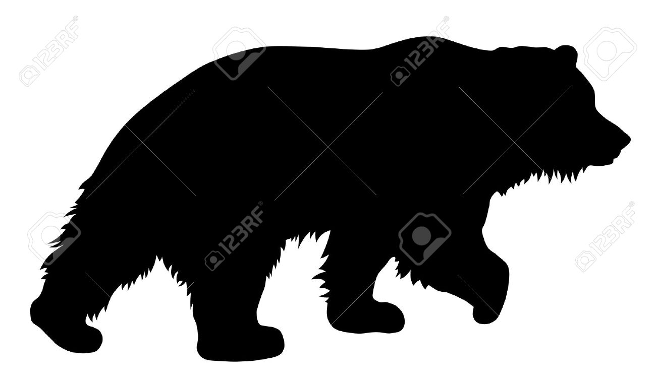 bear silhouette clip art  biezumd -  bear silhouette stock vector illustration and royalty free