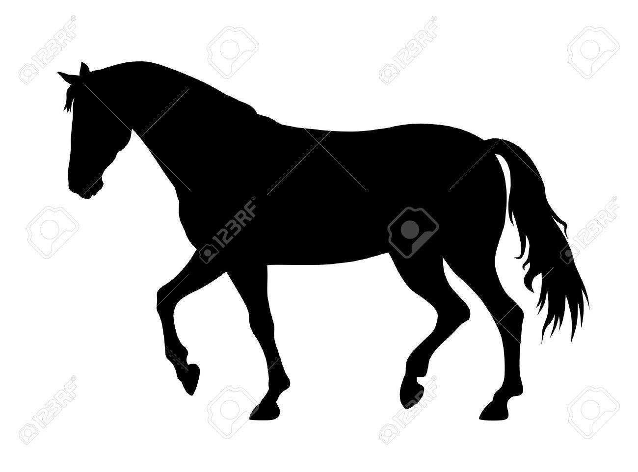 Vector Illustration Of Running Horse Silhouette Royalty Free Cliparts Vectors And Stock Illustration Image 37862018
