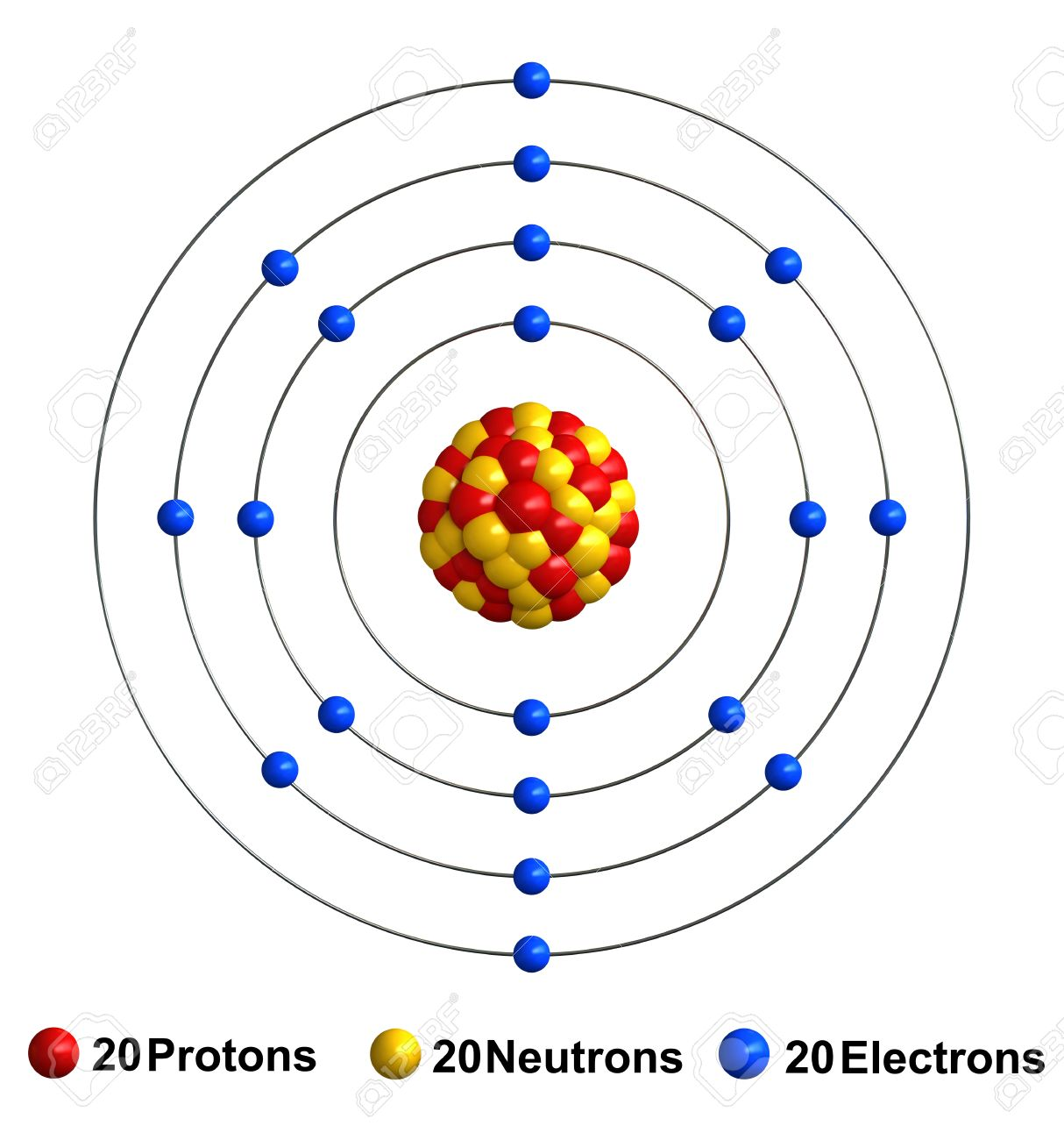3d render of atom structure of calcium isolated over white 3d render of atom structure of calcium isolated over white background protons are represented as red buycottarizona Choice Image
