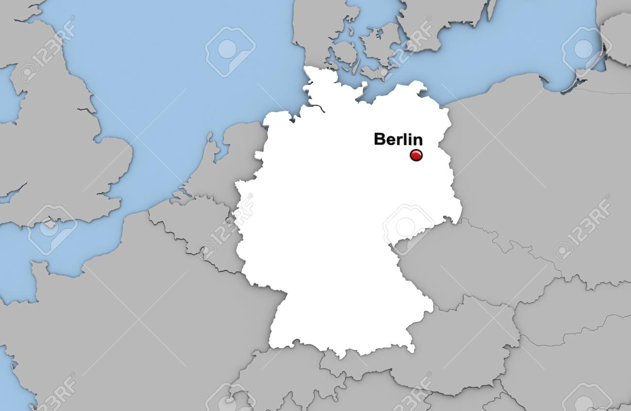 Image of: Abstract 3d Render Of Map Of Germany Highlighted In White Color Stock Photo Picture And Royalty Free Image Image 90033670