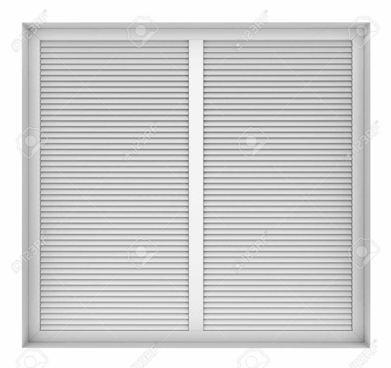 plastic window blinds cheap 3d render of plastic window frame with external blinds isolated on white background stock photo render of plastic window frame with external blinds isolated