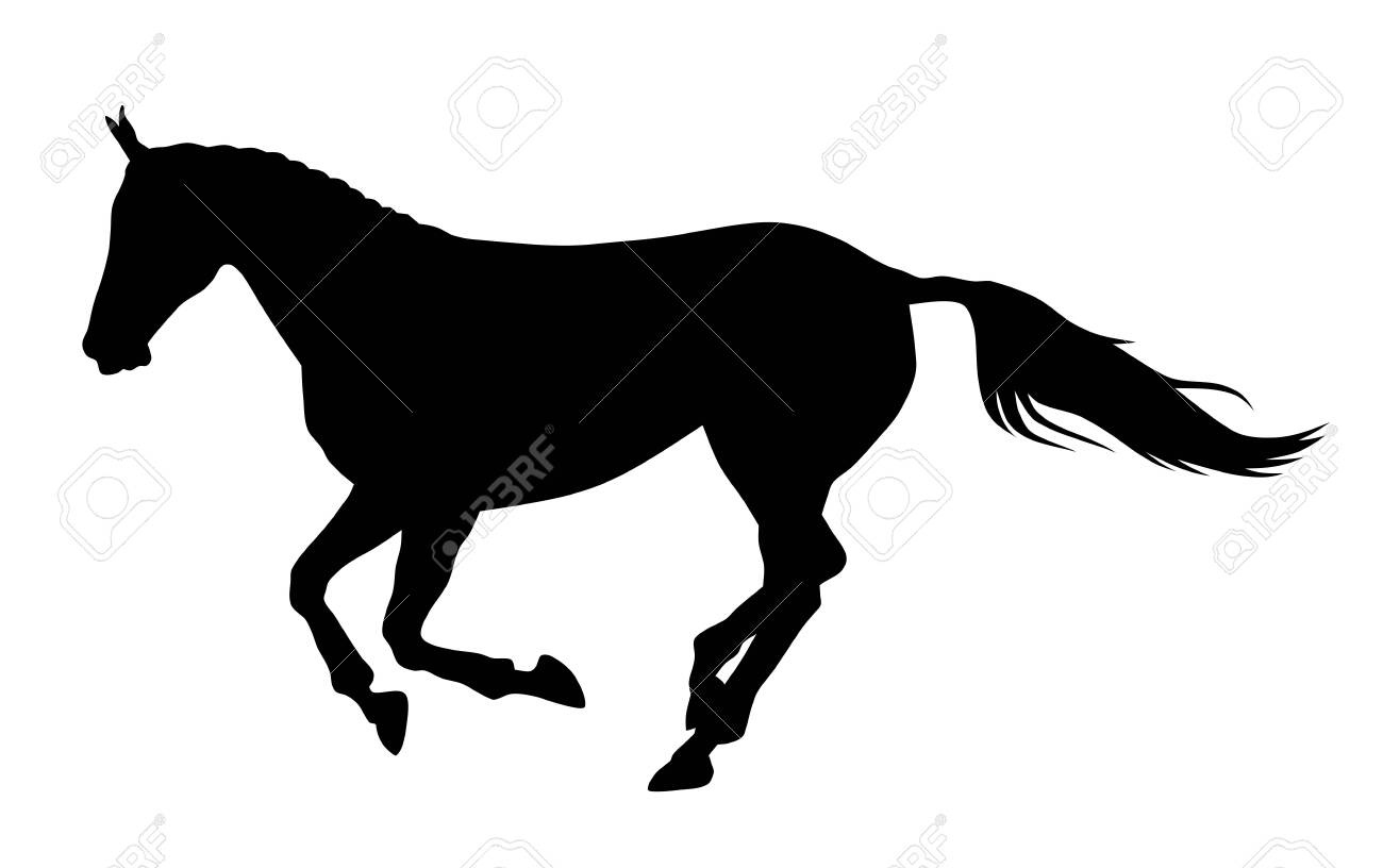 Vector Illustration Of Running Horse Silhouette Royalty Free Cliparts Vectors And Stock Illustration Image 132017729