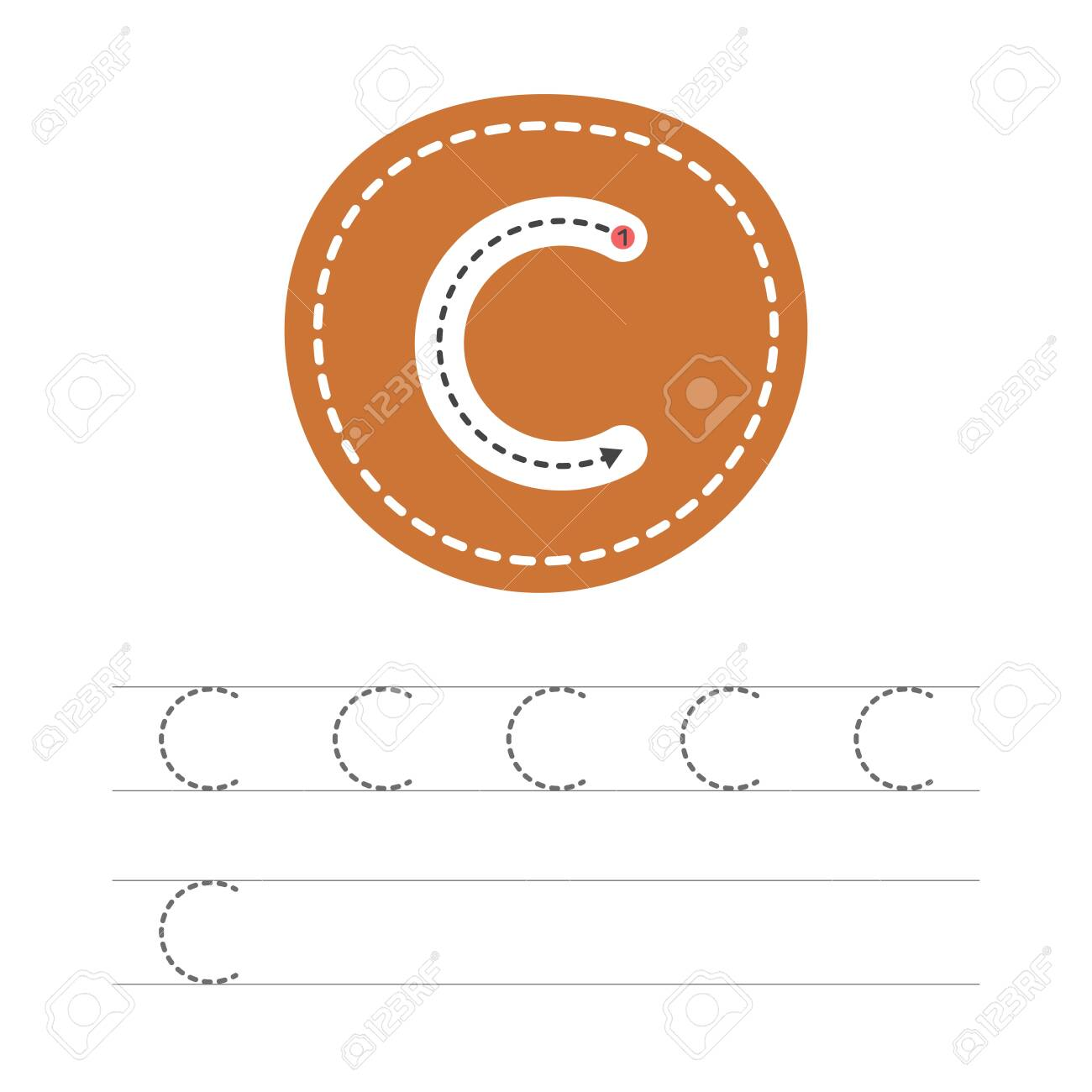 Learning To Write A Letter - C. A Practical Sheet From A Set ...