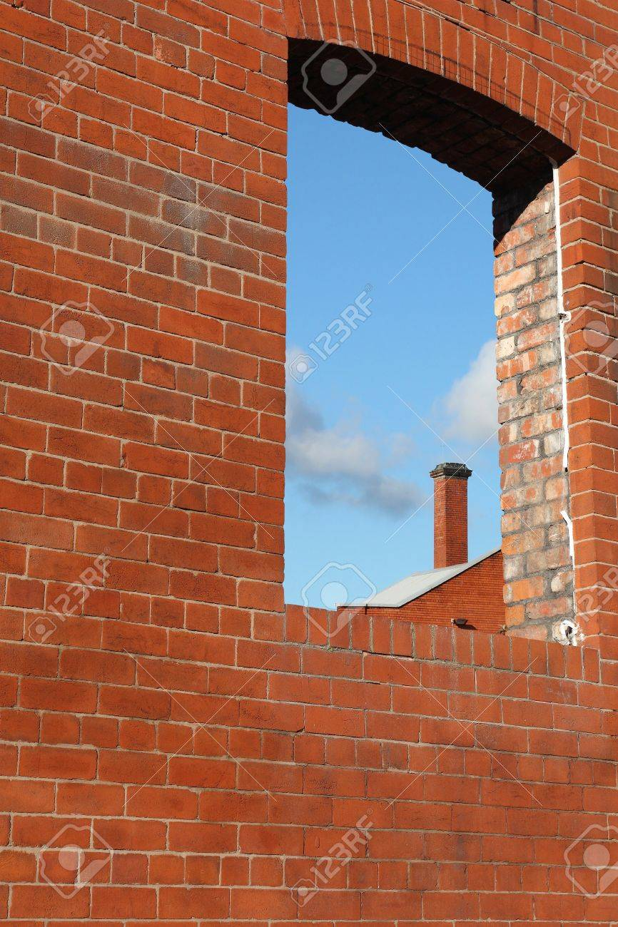 Window hole in the brick wall Stock Photo - 8764815