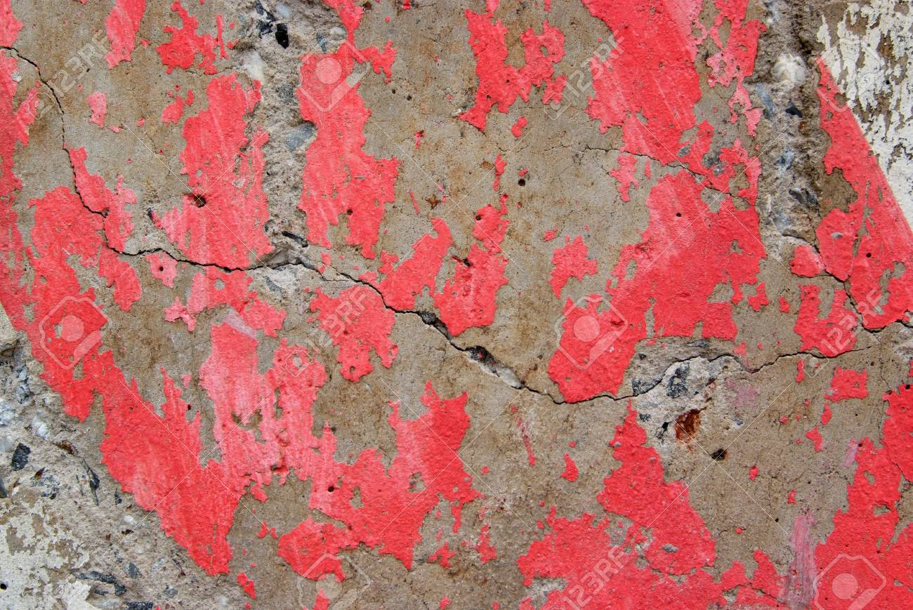 Texture of old weathered concrete wall with rusty warning stripes Stock Photo - 11718765