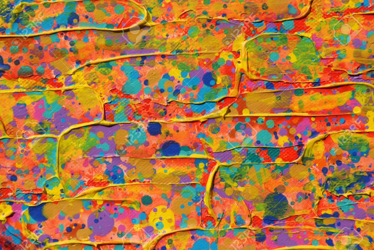 Texture, Background Of Colorful Painting Stock Photo   13824072
