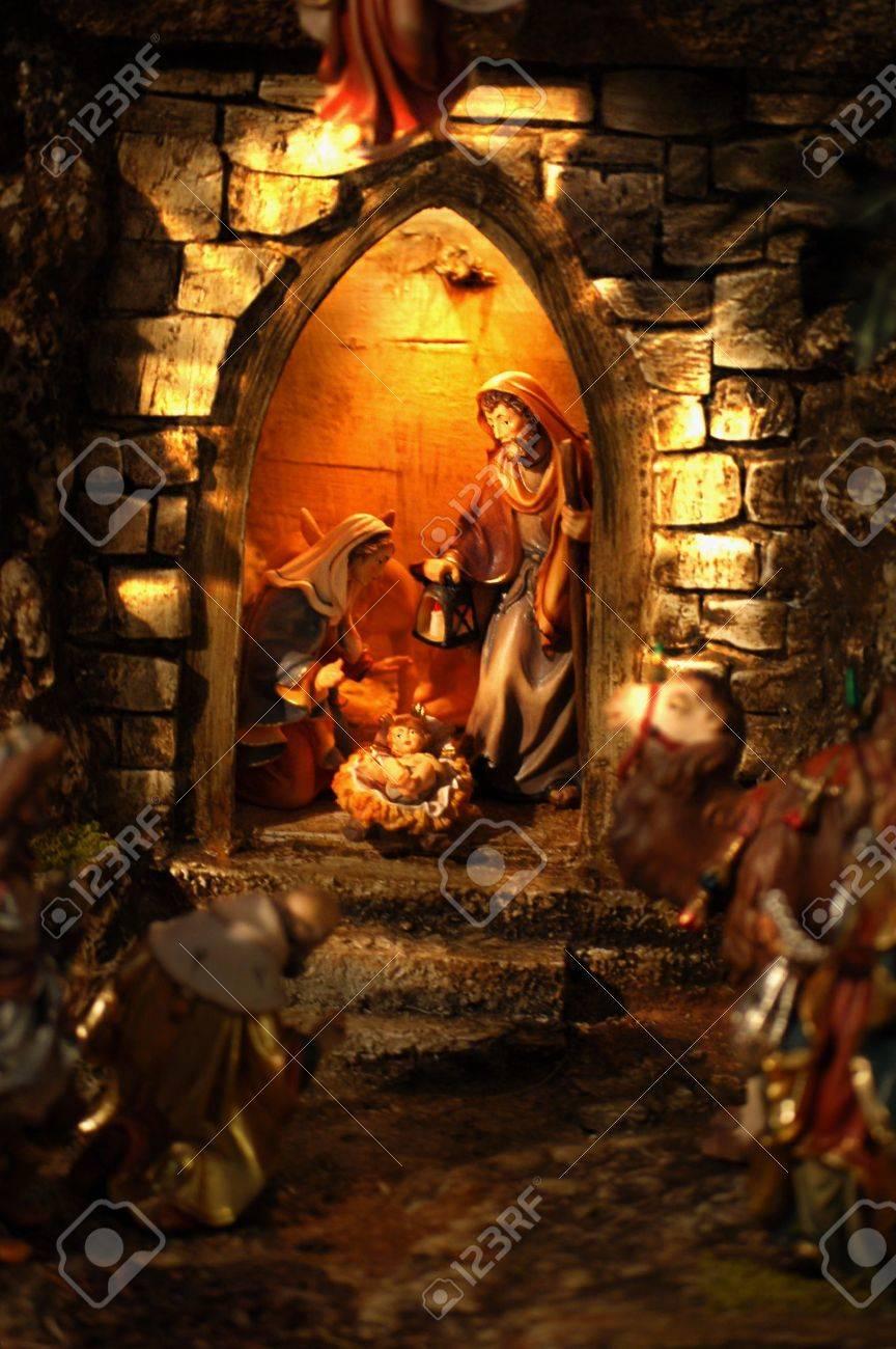 Weihnachten Krippe Bilder.Stock Photo