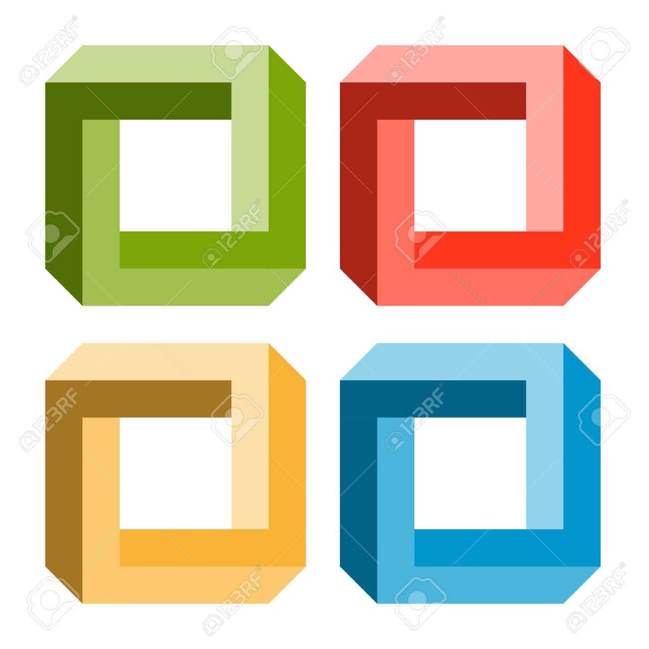 Optical Illusion - 4 Colors Ro...