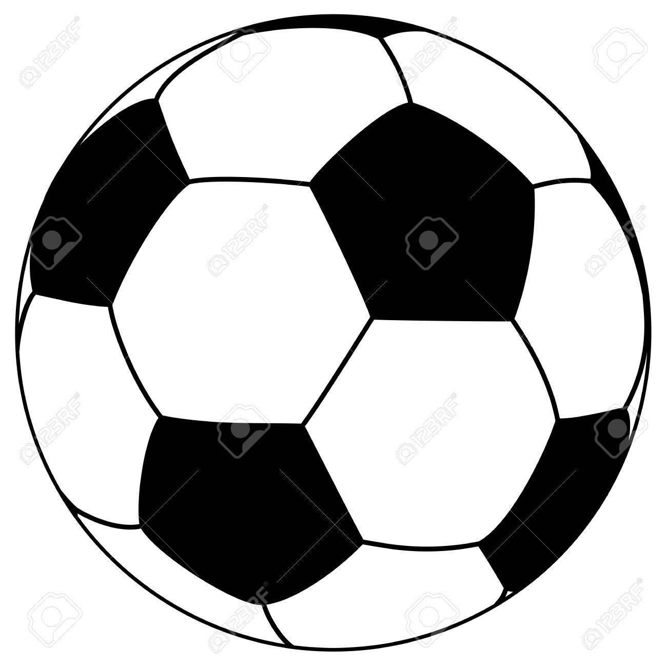 Black White Football Simple Vector Illustration