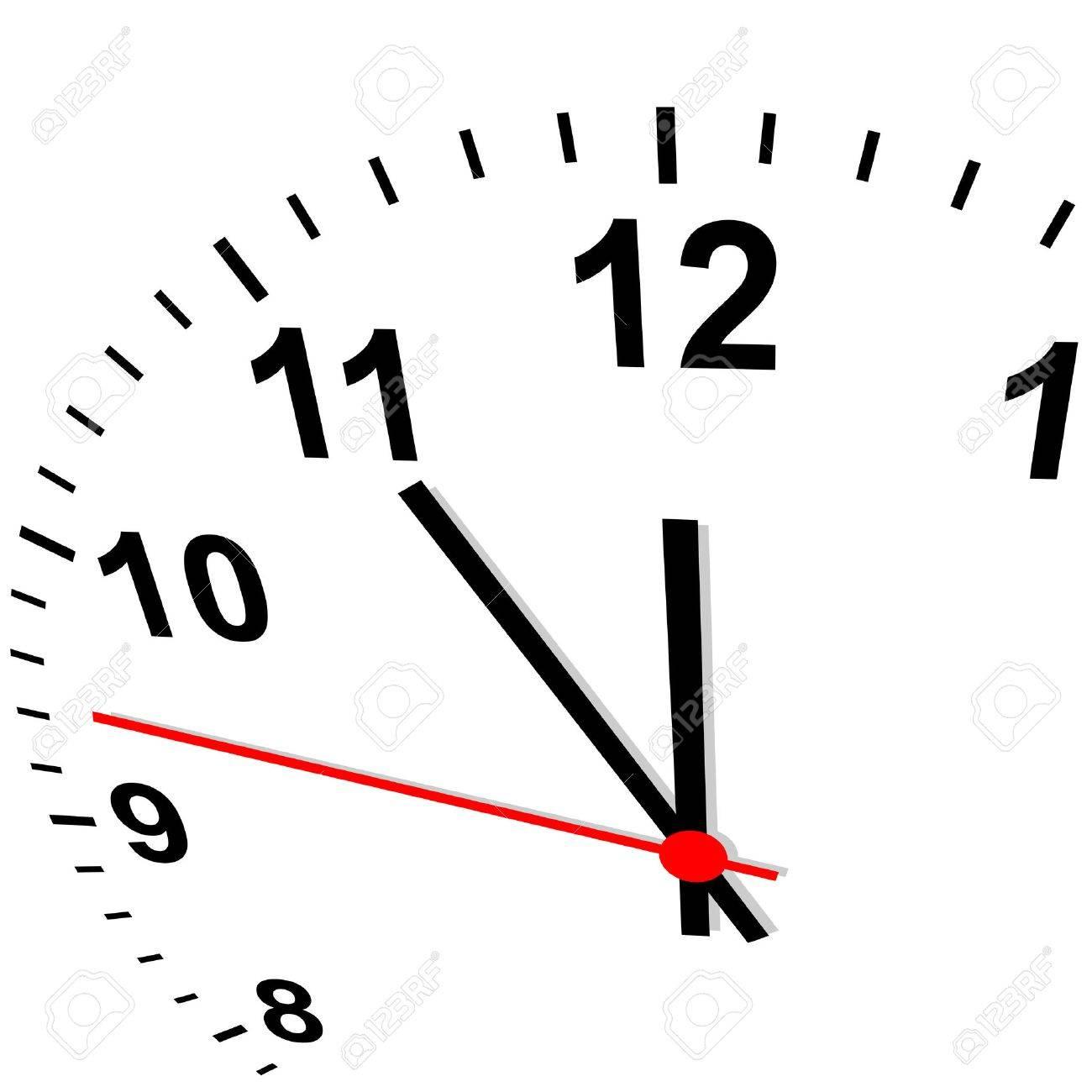 clock - eleven fifty-five - 28878672