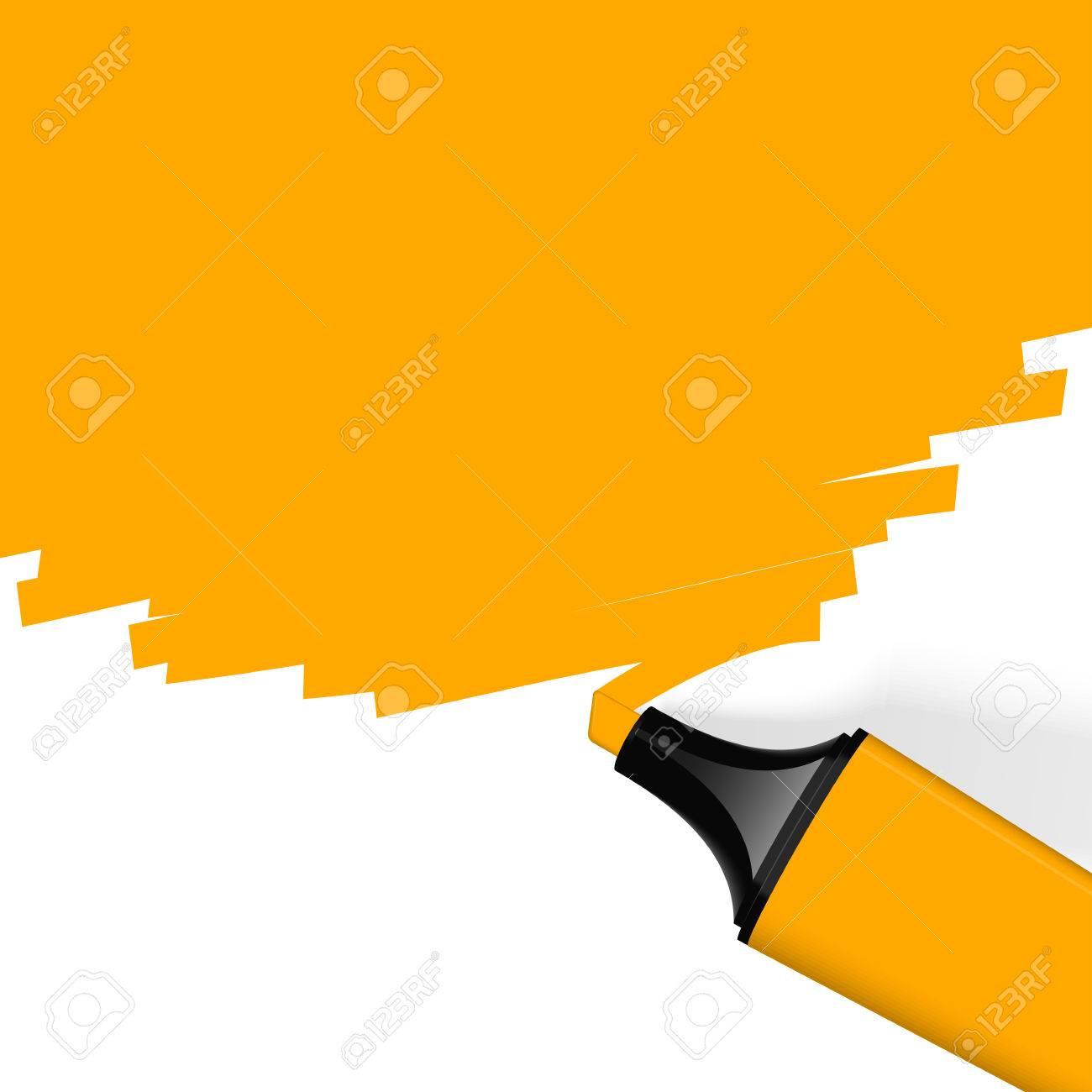 orange highlighter with marking - 29618107