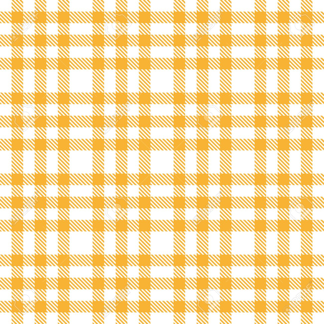 Checkered Table Cloth Background Yellow Stock Vector   30140065