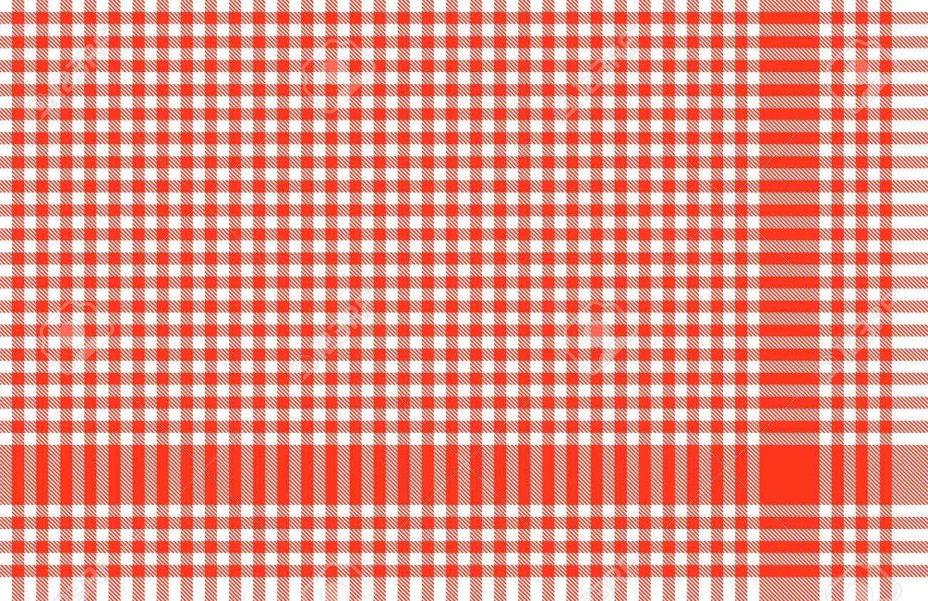Checkered Table Cloth Background Red Stock Vector   30140095