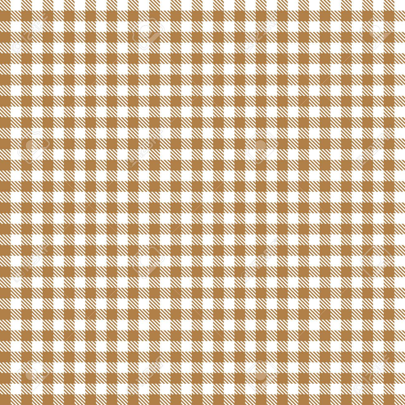 Etonnant Checkered Tablecloth Pattern BROWN   Endlessly Stock Vector   32169520
