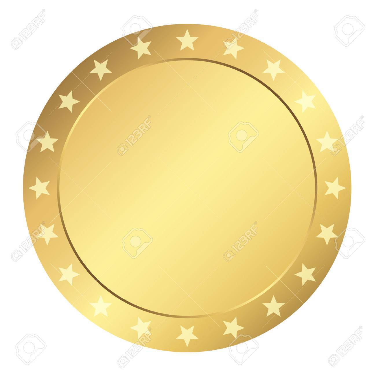 template seal gold with stars royalty free cliparts vectors and