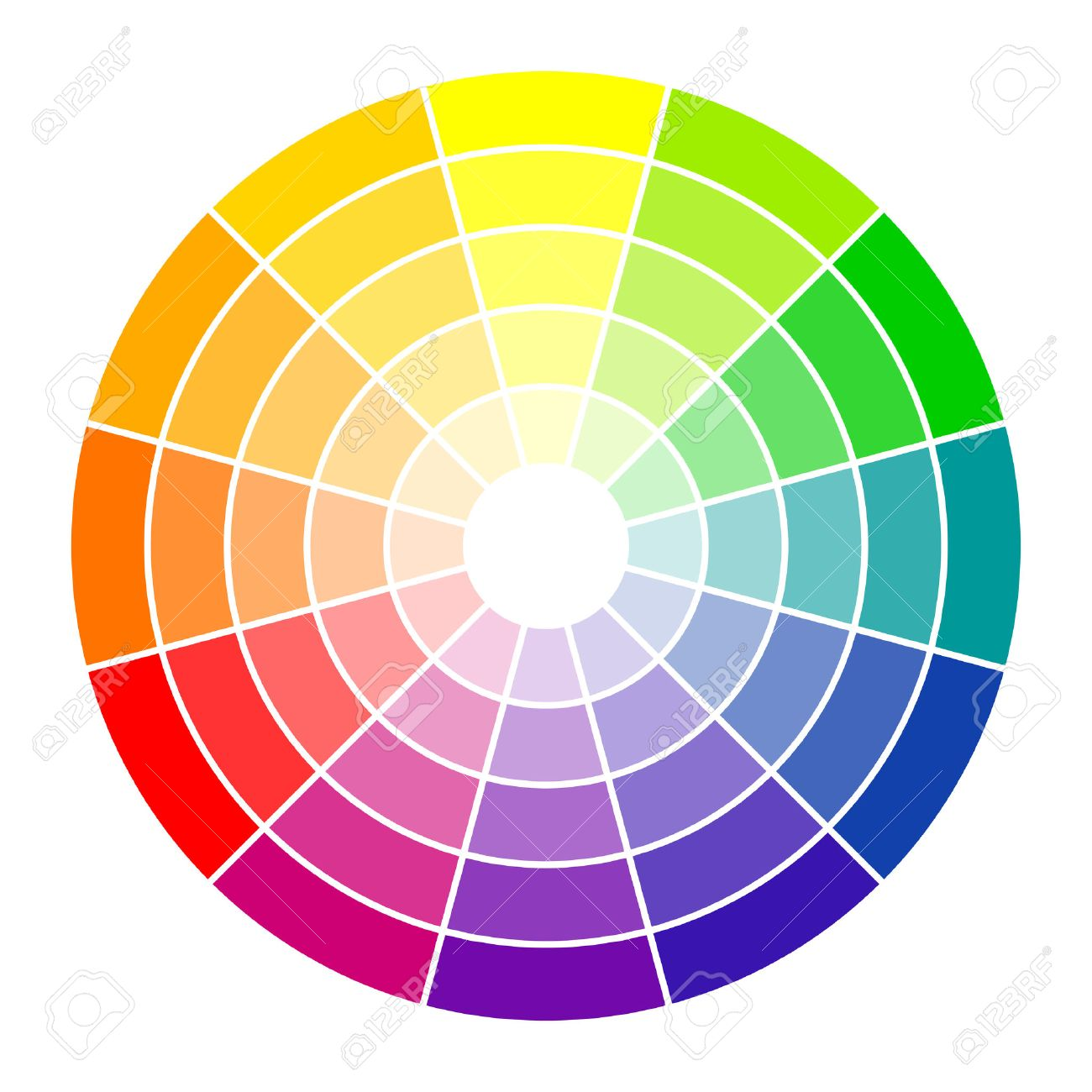 Color circle 12 colors - 32169552