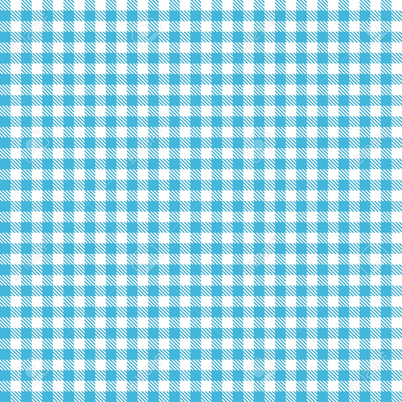 Blue tablecloth background - Endless Blue Checkered Table Cloth Pattern For Background Design Stock Vector 35741922