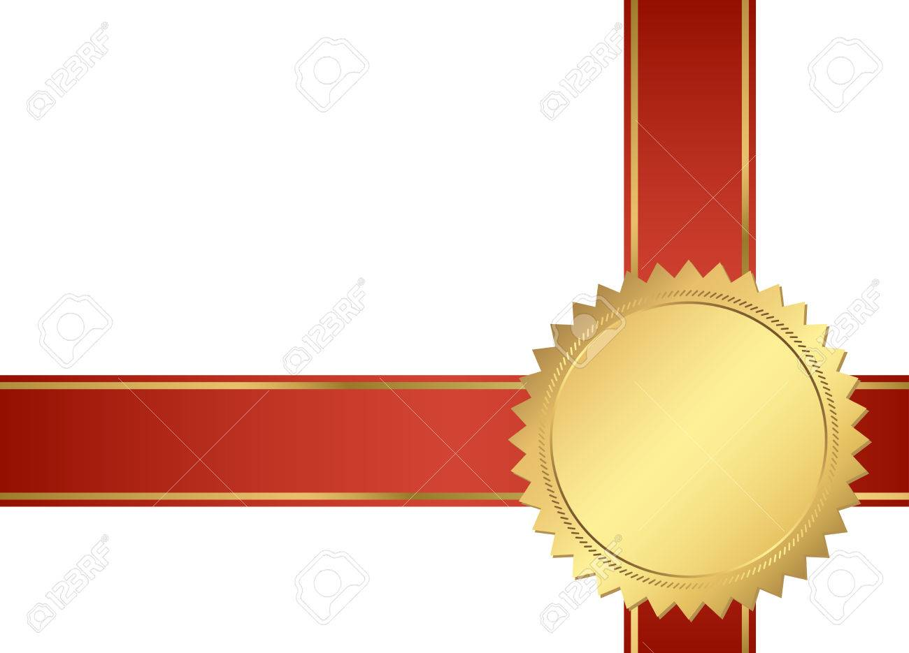 Seal Of Quality Template With Ribbons Vector Royalty Free Cliparts ...
