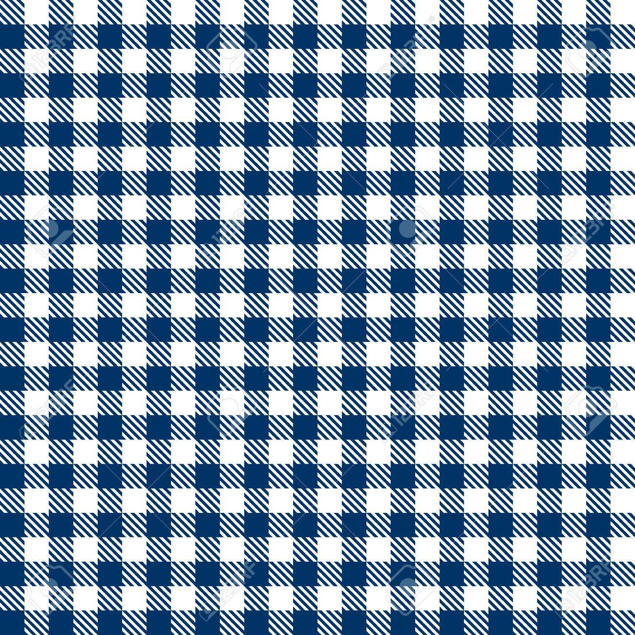 Checkered Tablecloths Patterns BLUE Endlessly Stock Vector   41386066