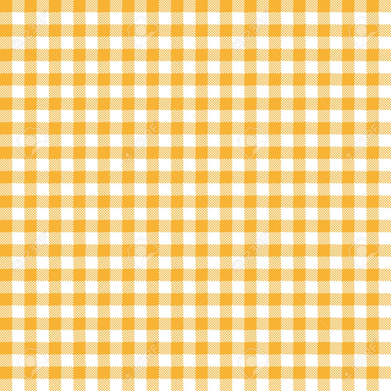 Vector   Vintage Checkered Table Cloth Background Colored Yellow