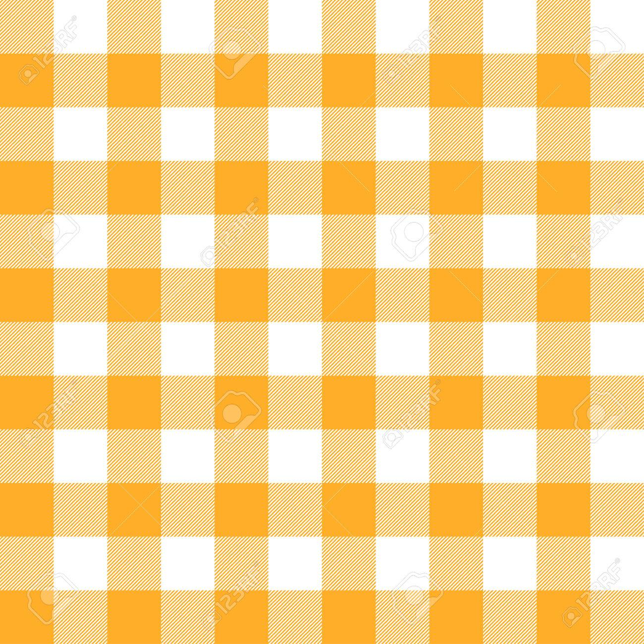 Seamless Checkered Table Cloth Background Colored Yellow Stock Vector    47841679