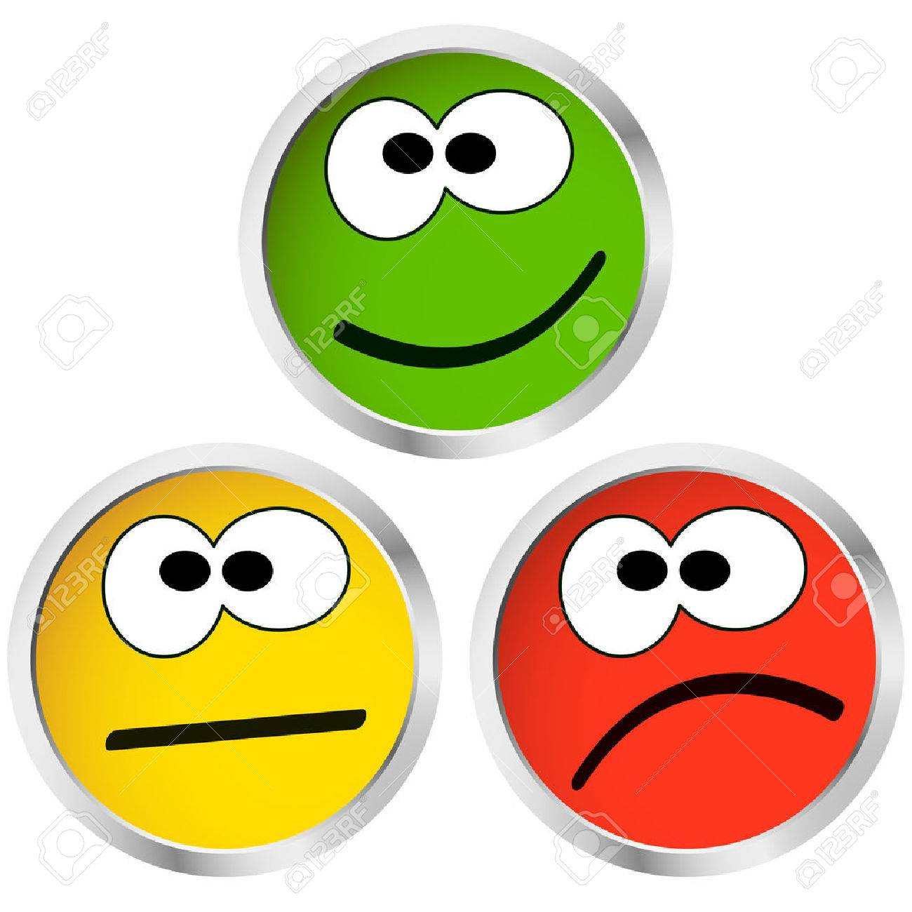 Worksheets Emotion Faces three buttons with happy neutral and sad emotion faces royalty free stock vector 47841778