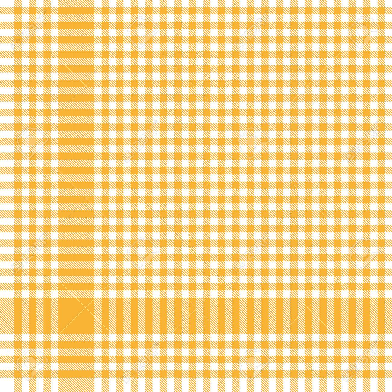 Vector   Yellow Colored Checkered Table Cloth Pattern For Background Design