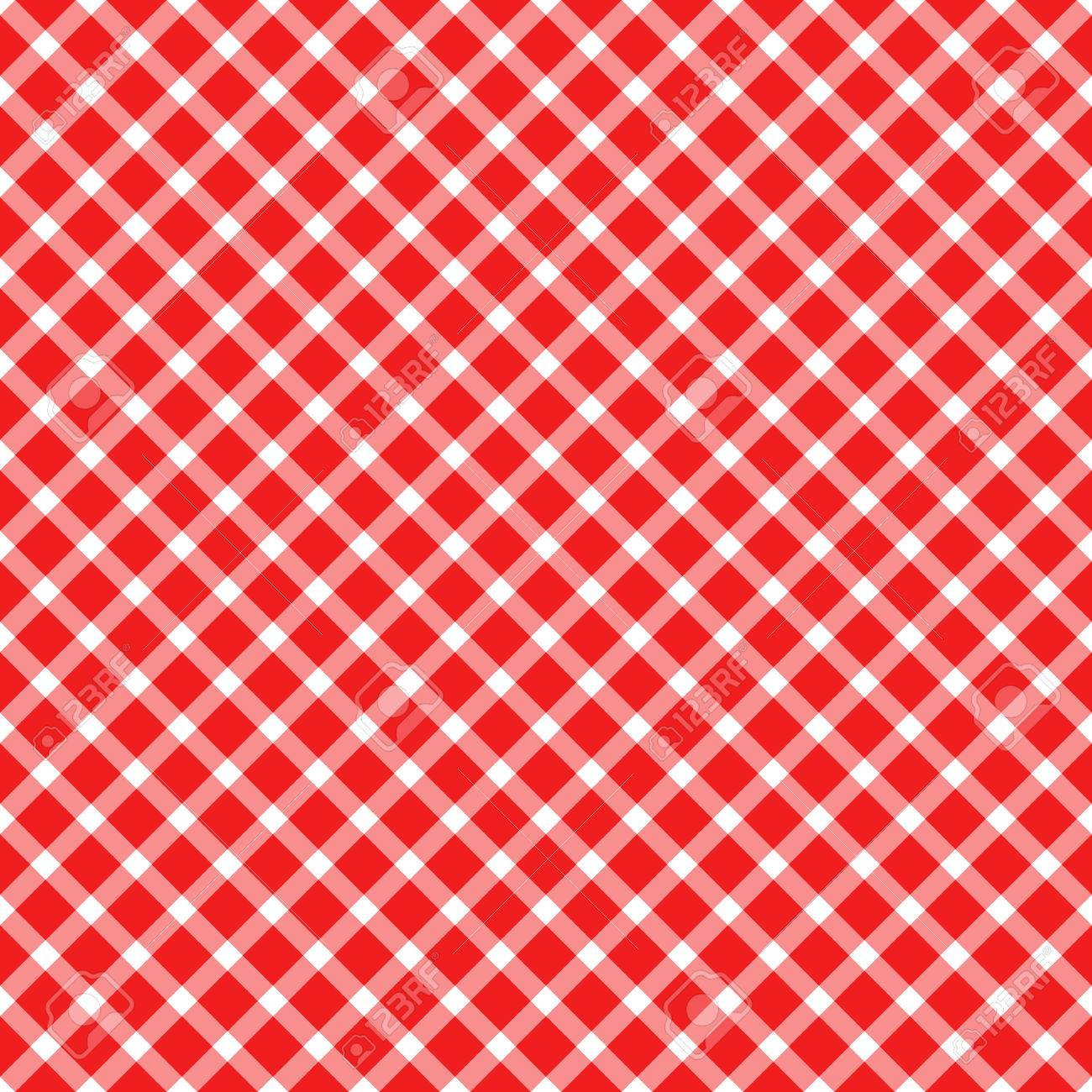 Seamless Red Colored Checkered Table Cloth Pattern For Background Design  Stock Vector   61049198
