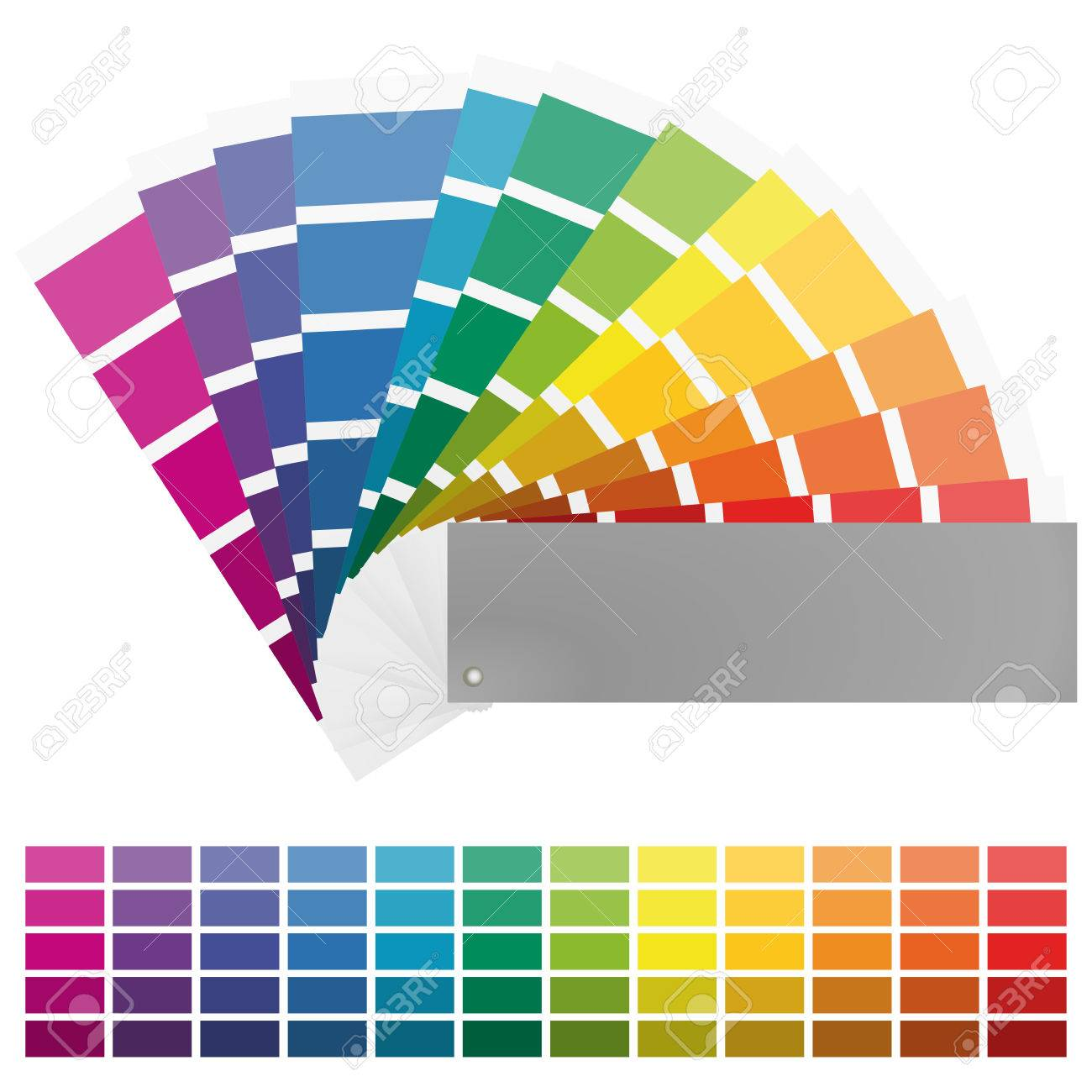 Illustration Of Printing Color Fan With Different Colors In Gradations Stock Vector