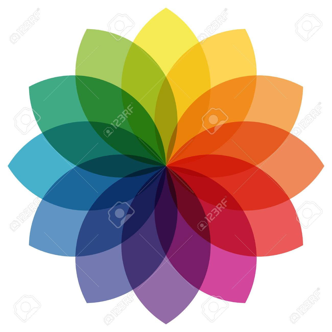 illustration of printing color wheel with different colors in gradations - 61541050