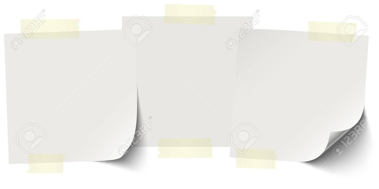 小さな付箋紙の色の粘着テープで無料の行にコピー スペースのイラスト