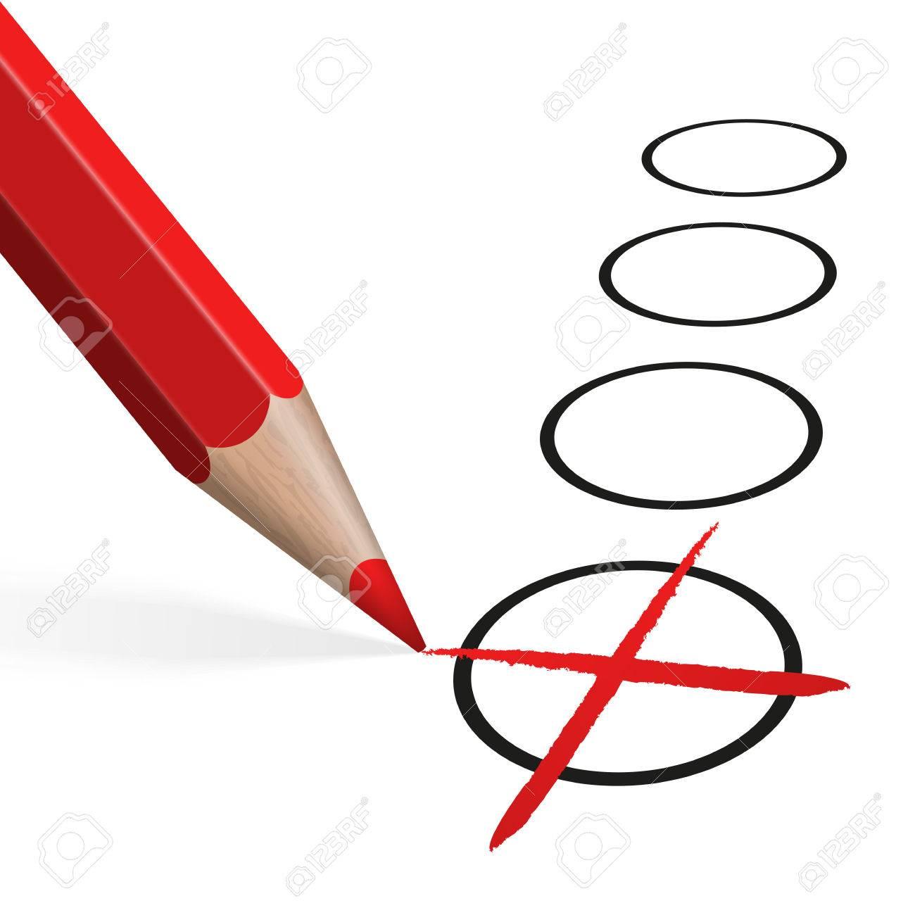 Cruz Roja Dibujo De Lapiz Coloreado Para El Uso De La Seleccion