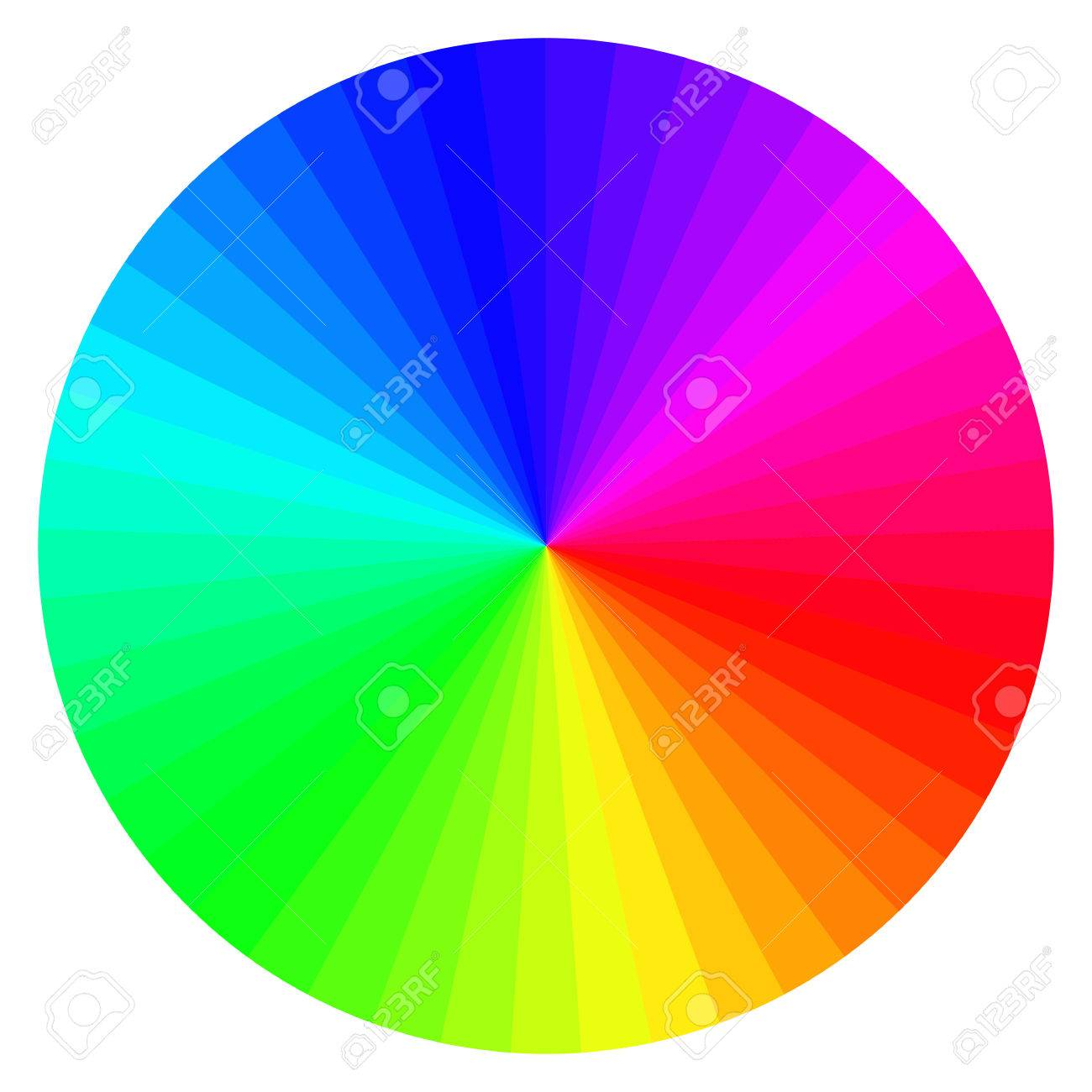 Illustration Of Printing Color Wheel With Different Colors Stock Vector