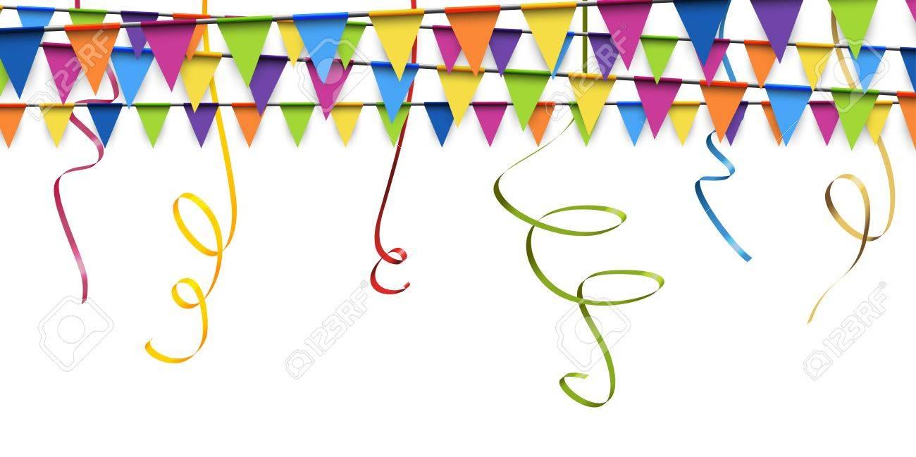 Farbige Girlanden Und Streamer Hintergrund Für Party Oder Festival ...