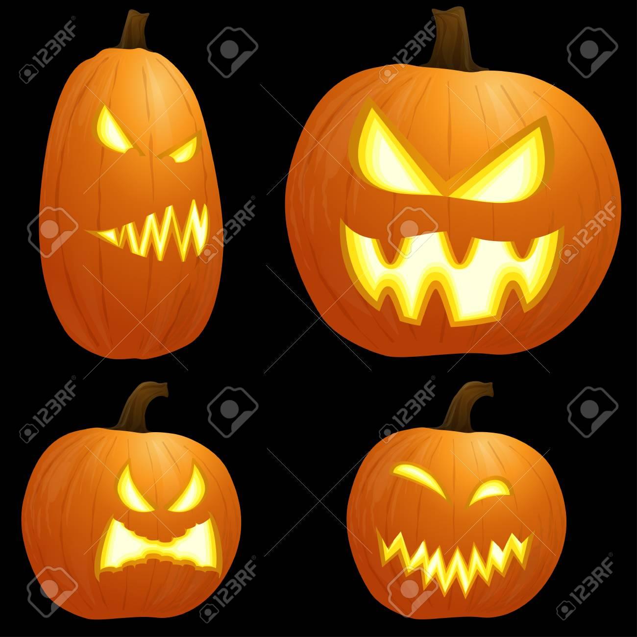 Colección De Diferentes Calabazas Ilustradas De Color Naranja Para Diseños De Halloween Ilustraciones Vectoriales Clip Art Vectorizado Libre De Derechos Image 88104380
