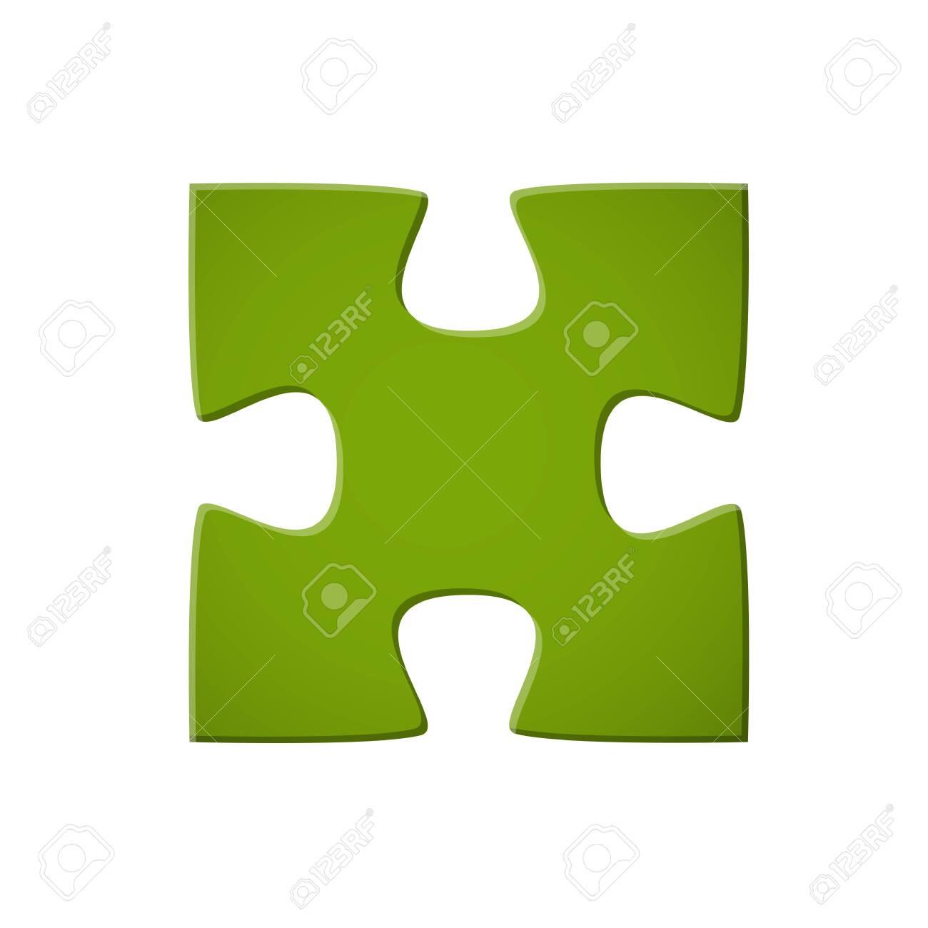 Puzzle piece green - 121237195
