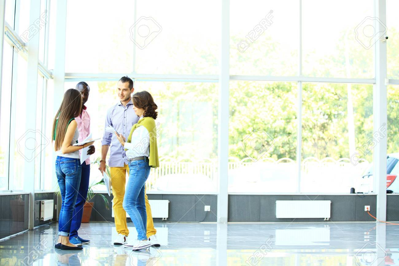 Business people talking in office Stock Photo - 44526757