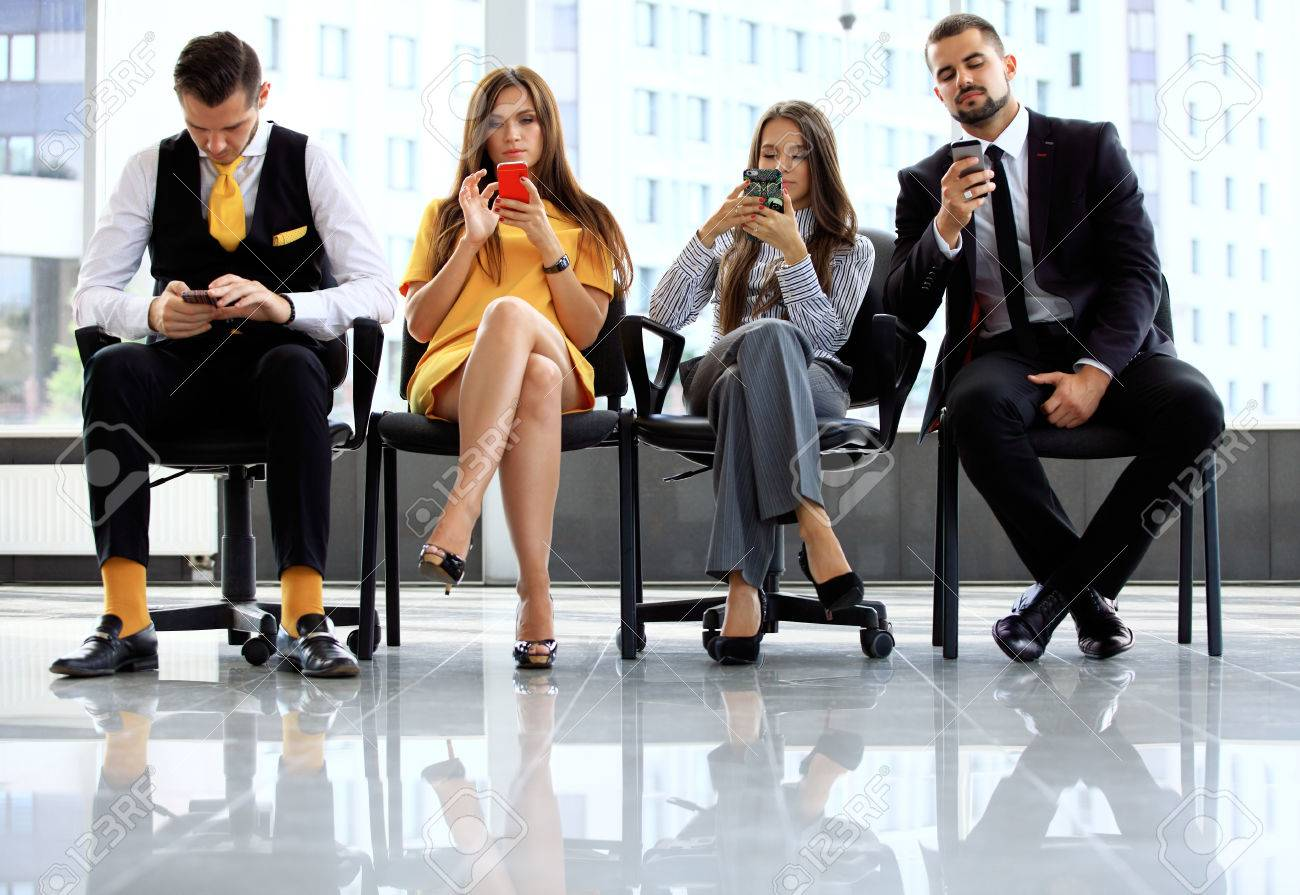 Business people waiting for job interview in office - 50162936