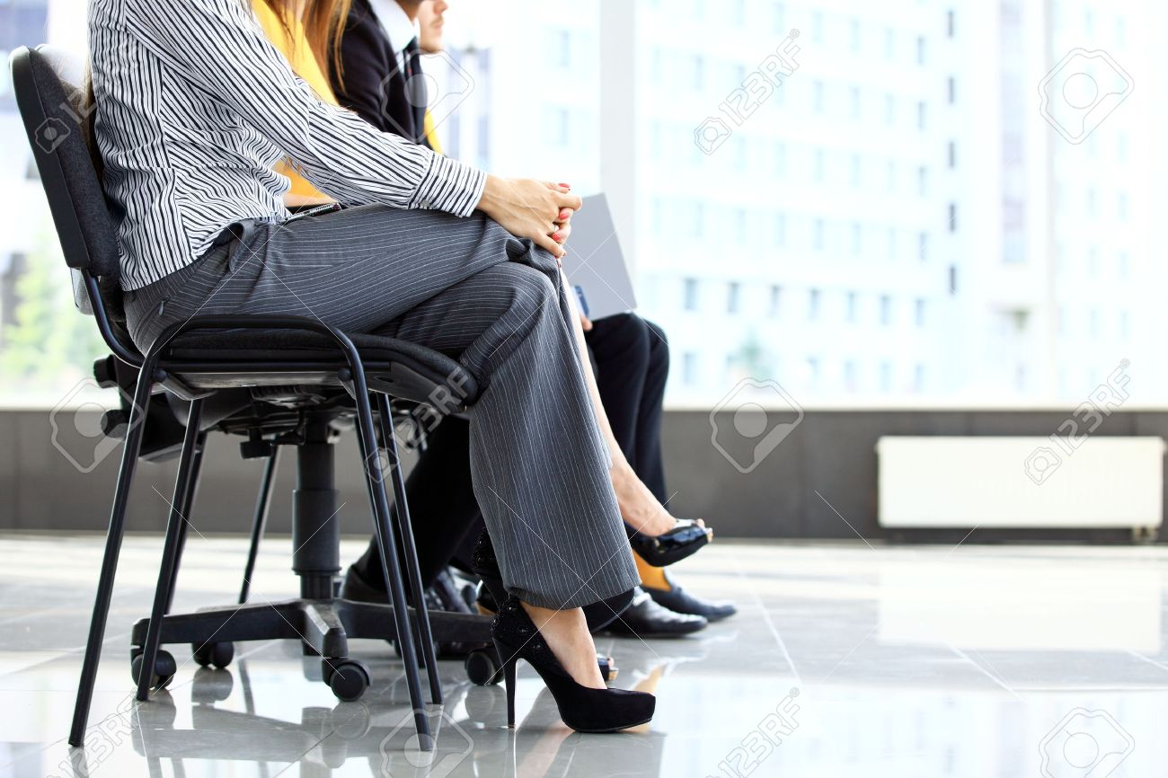 Business people waiting for job interview in office - 50162853