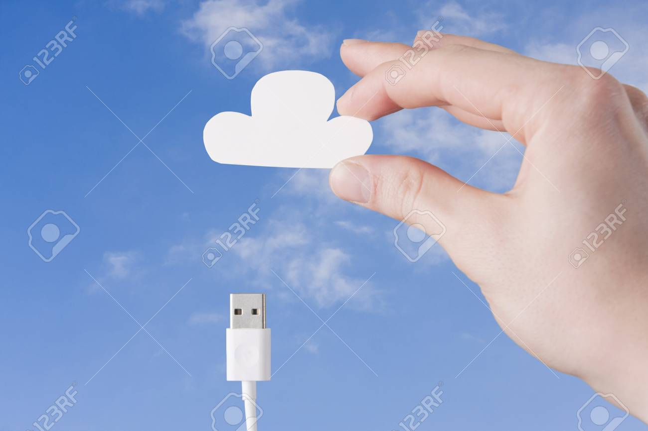Connecting to Cloud Stock Photo - 20069605