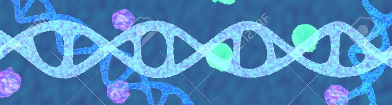 The blue Dna molecule,3d render. - 131122184