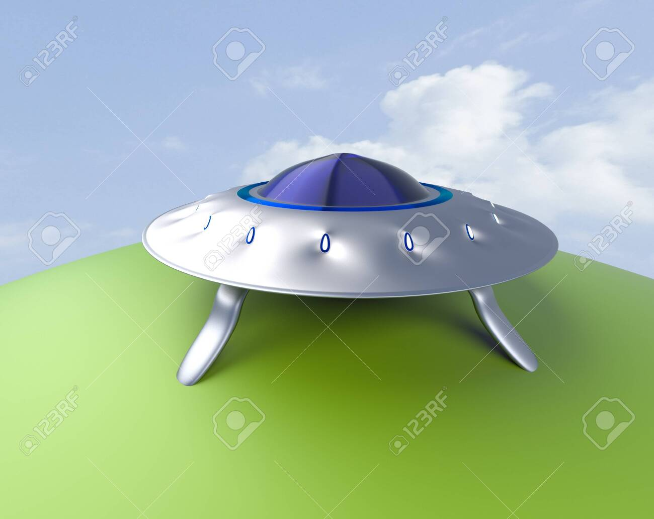 The alien space ship ,UFO,3d render. - 131122277